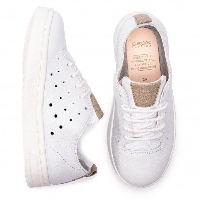 d861da284051 Sneakersy GEOX - J Djrock B. A J925VA 04610 C0405 S White Beige - Obuv na  šnurovanie - Poltopánky - Diavča - Detské - www.eobuv.sk