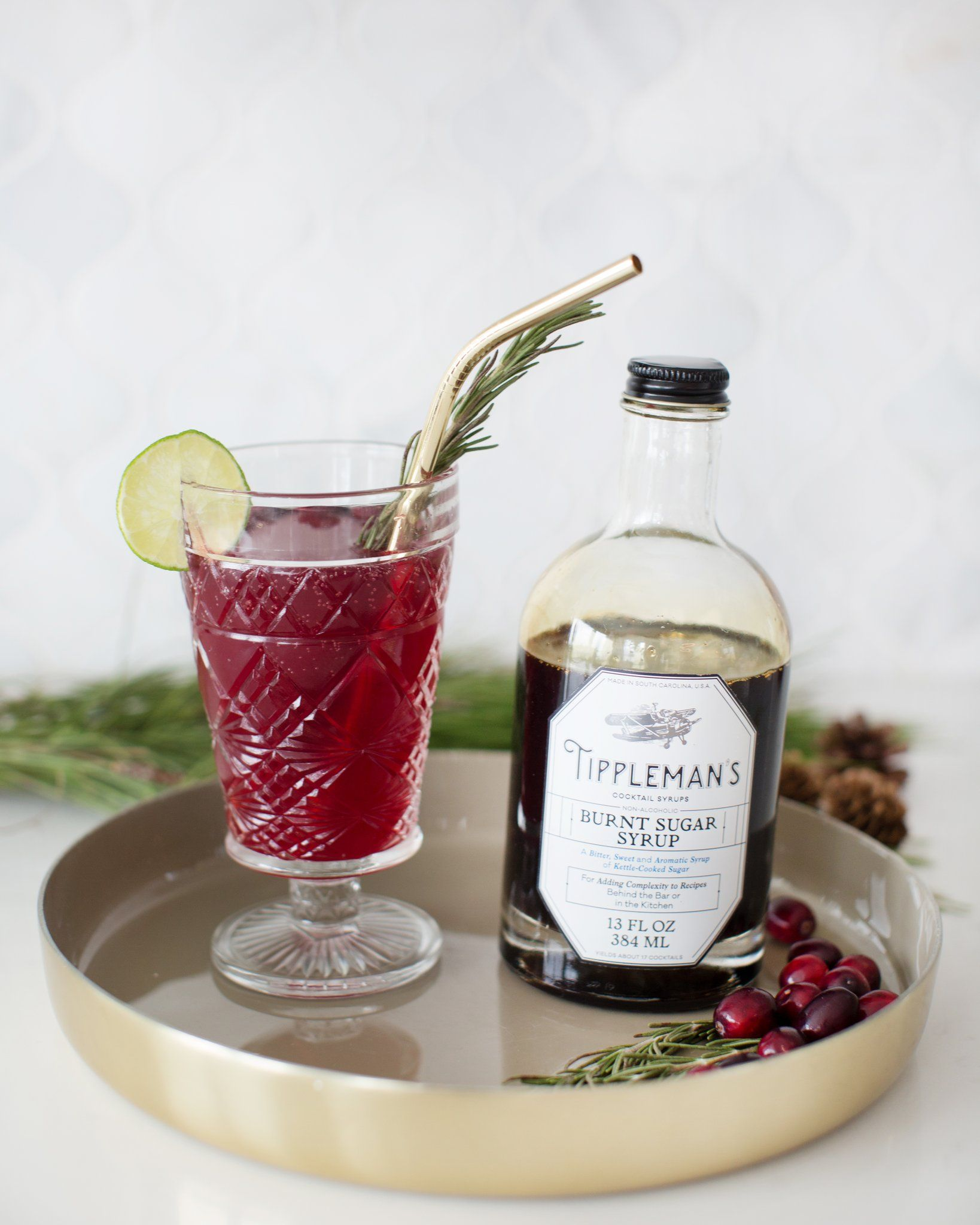Holiday Mocktail: Non-Alcoholic Rosemary Berry Drink