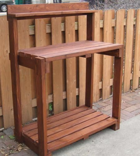 Potting bench do it yourself home projects from ana for Do it yourself home projects