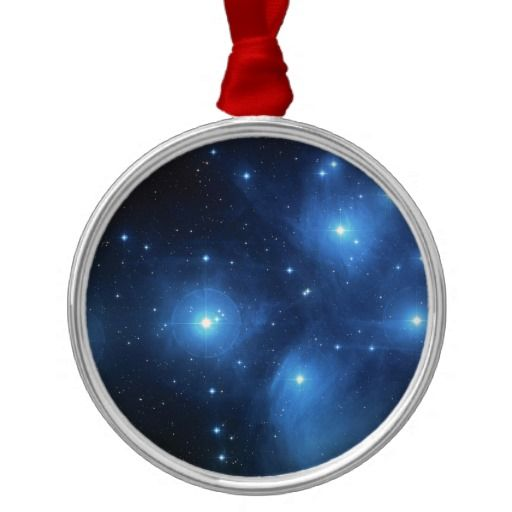 Ornament · NASA Pleiades metal christmas ornamanent - Pleiades Or The Seven Sisters M45 Metal Ornament Ornament