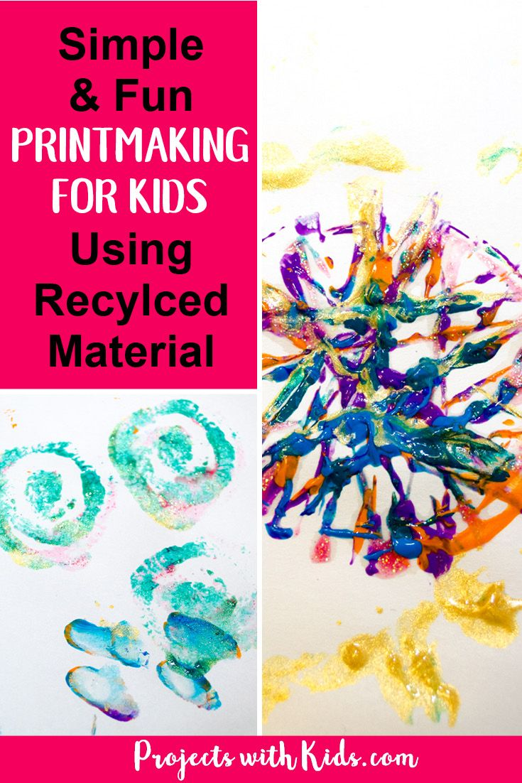 Simple And Fun Printmaking For Kids Using Recycled Materials