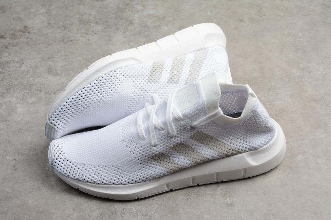 wholesale dealer 1b35a bc216 adidas Swift Run Primeknit Triple White Shoes For Men and Women-5