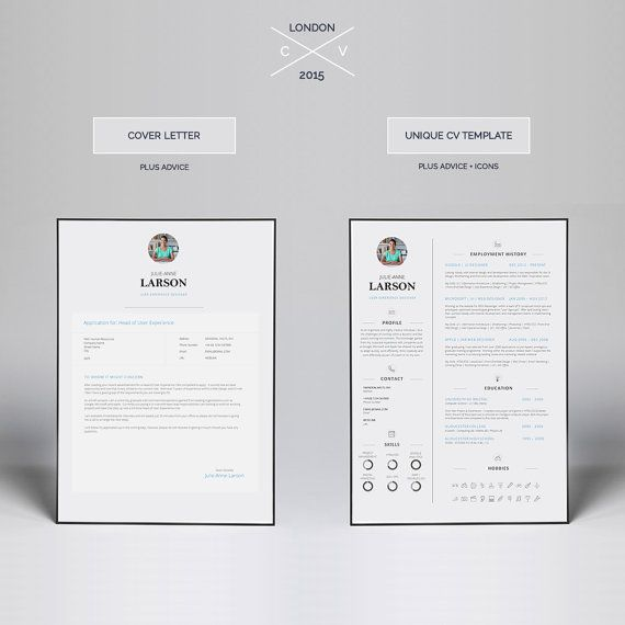 Resume Template CV Template + Cover Letter + Application Advice - office 2010 resume template