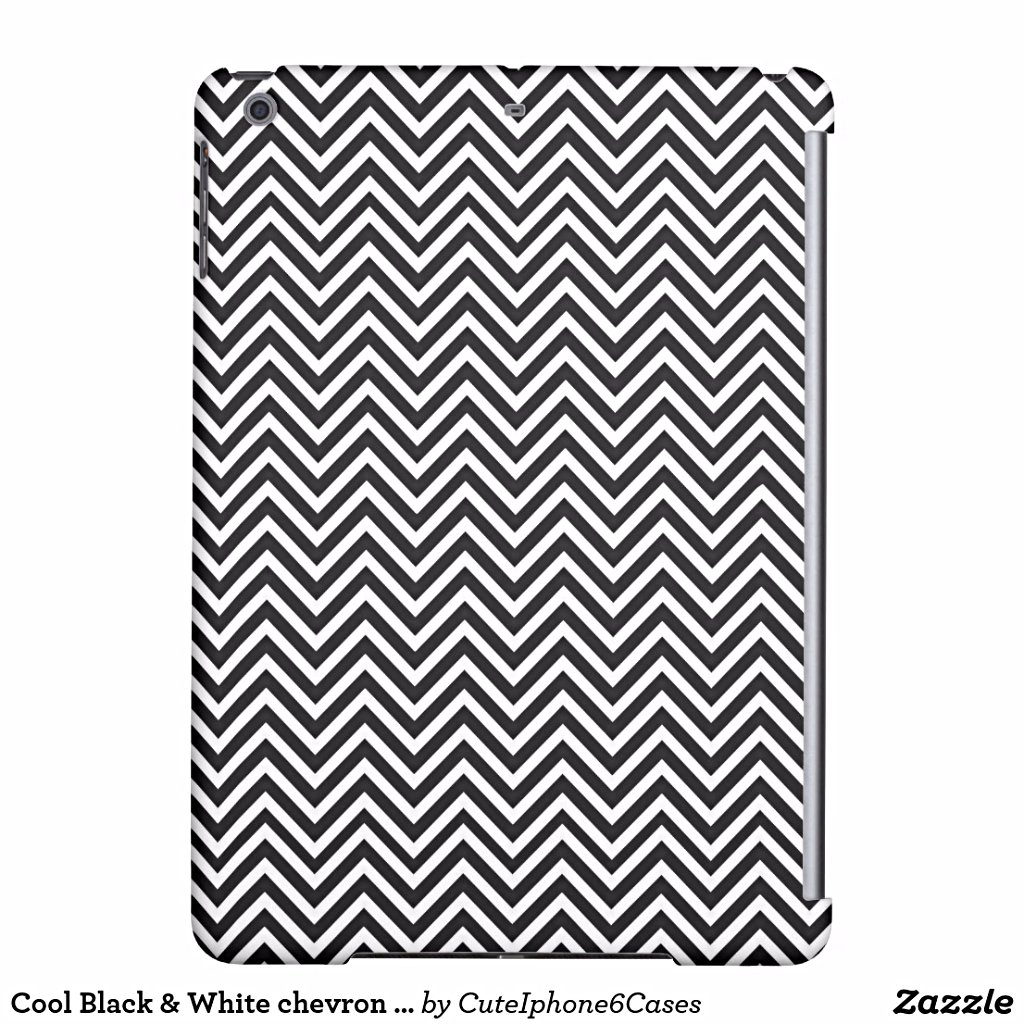 """Cool Black & White chevron v38 Cover For #iPadAir chevron zig-zag pattern Case Cover Sleeve Skin Protect Electronic Products . An amazing perfect For you, zigzag chevron/ zigzags/ zig-zag zig zag, graphic art design, pattern patterns/ texture/ textures/ textile/ vector/ illustration/ design/ """"digital art""""/ background/ wallpaper lovers and anyone. Click https://www.zazzle.com/cool_black_white_chevron_v38_cover_for_ipad_air-256747371317114074?rf=238478323816001889 to get 15% off with code…"""