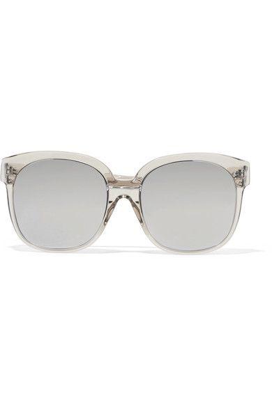 Square-frame Acetate And White Gold Mirrored Sunglasses - Silver Linda Farrow K2xdHK