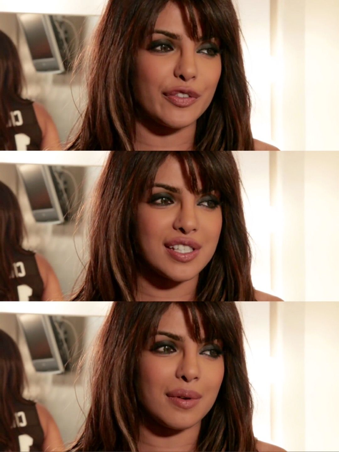 Priyanka Chopra Giving Interview For In My City Commercial Spot Advert Song Hair Styles Long Hair Styles Beauty