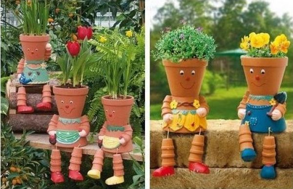 Wie Man Clay Pot Flower People Macht Blumensäule Pupazzi