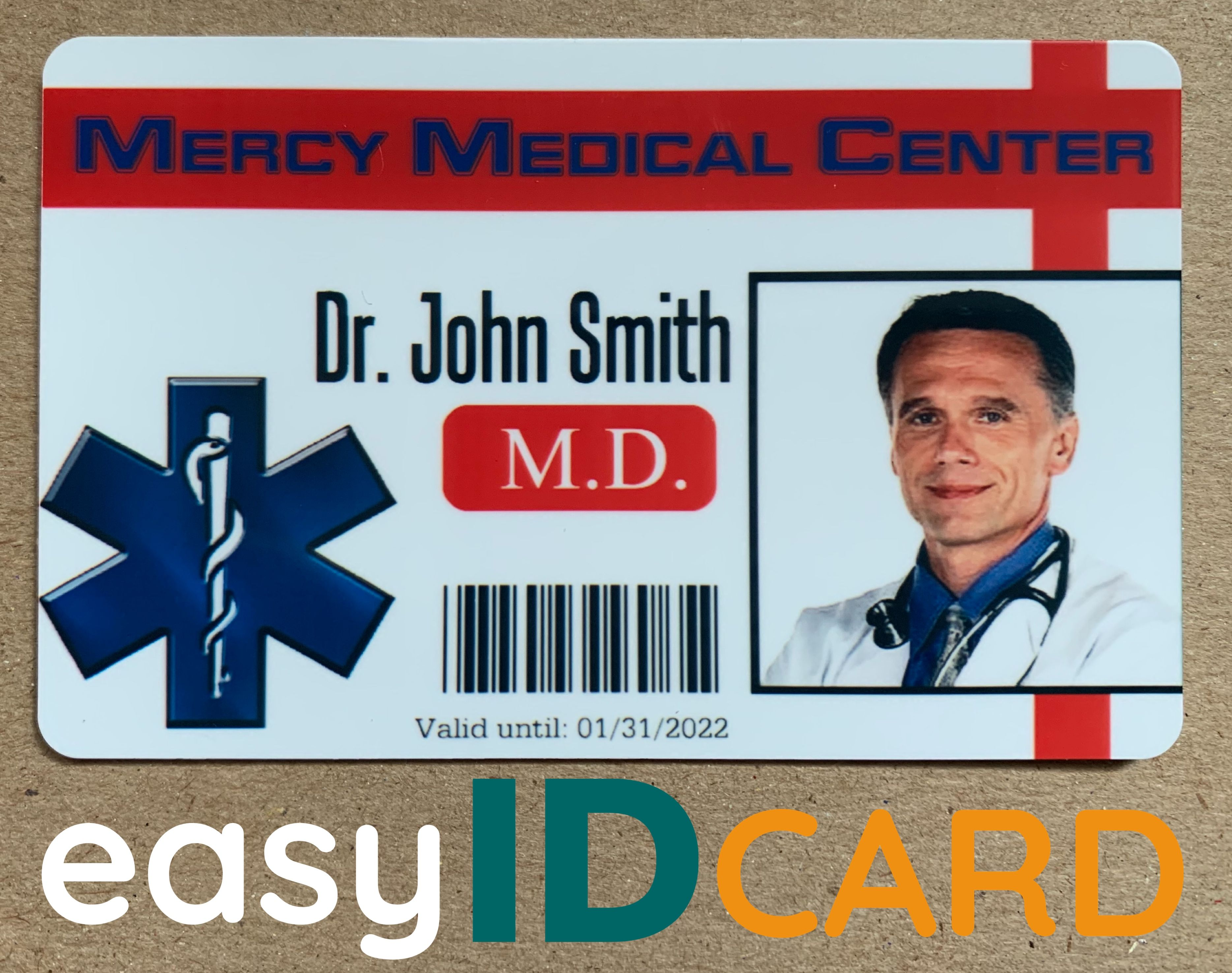 Medical Professional Id Badges Id Card Template Employee Id Card Badge Template