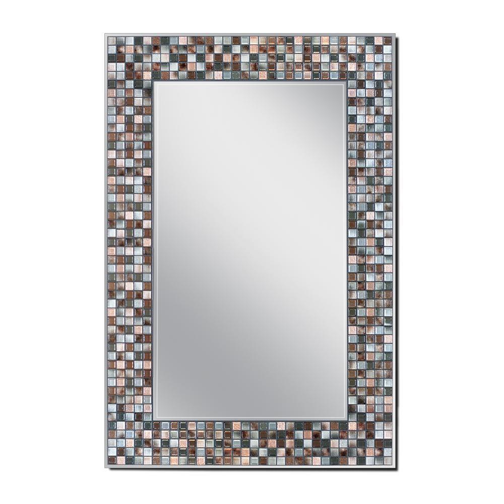 Deco Mirror Mosaic 23 5 In X 35 5 In Single Frameless Wall