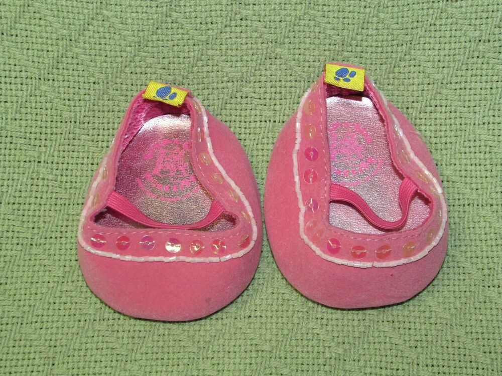 Build a Bear Pink Sparkle Sandals
