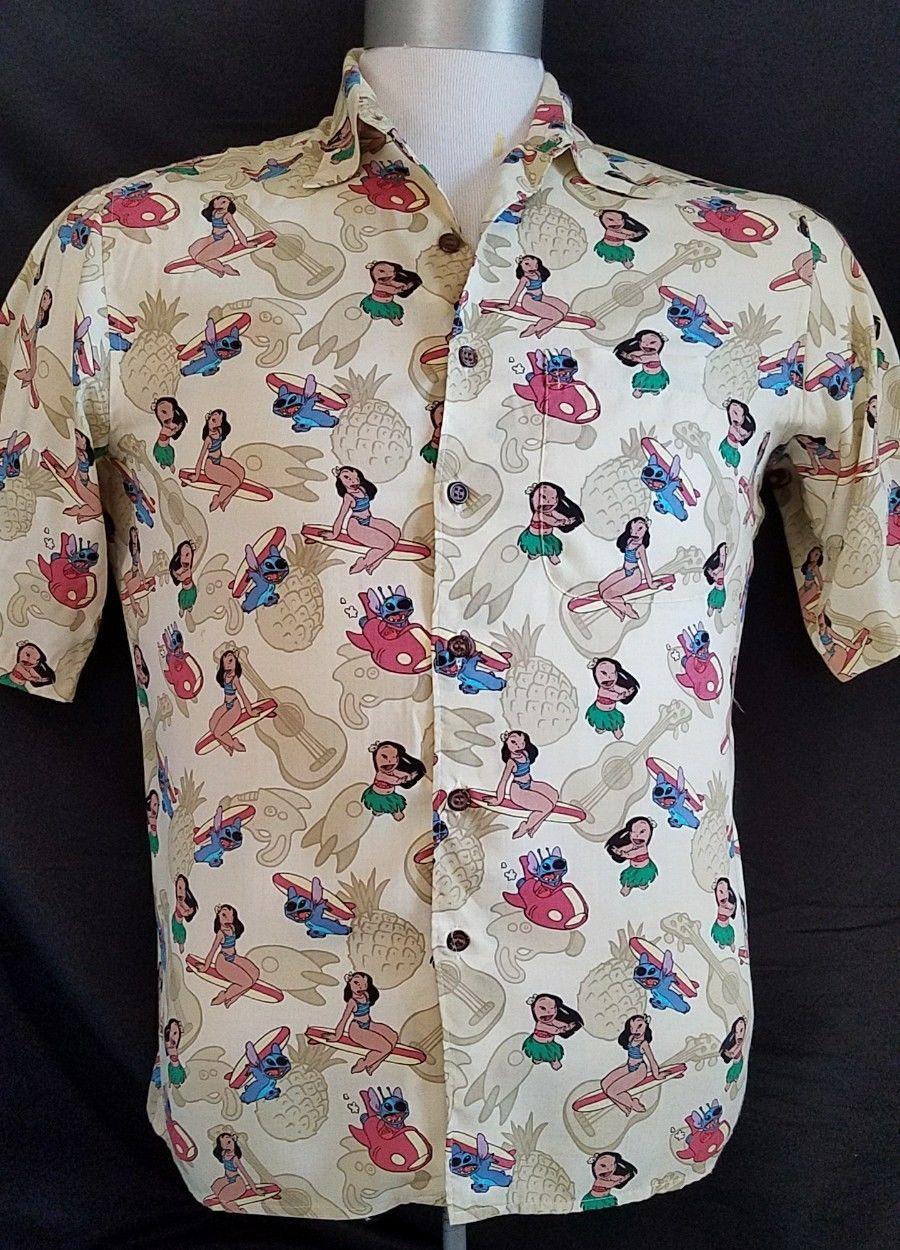 751d80a6 Details about Disney's Wall E Ryen Spooner Hawaiian Shirt Rayon RARE ...