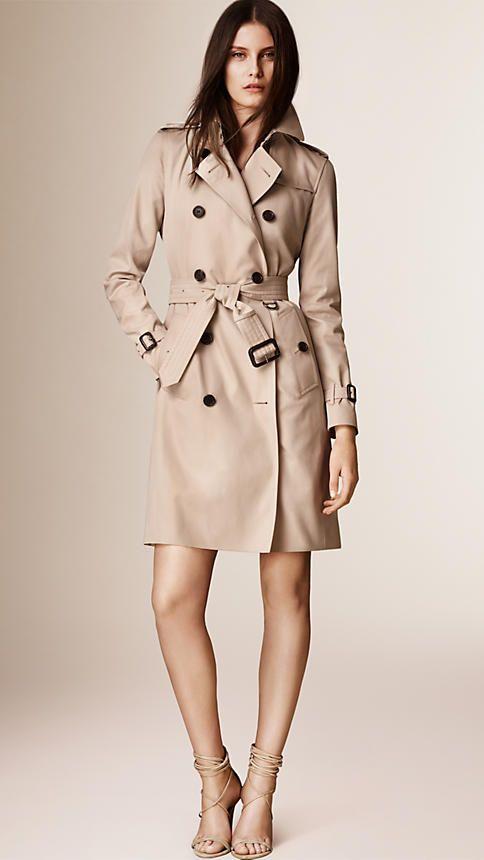 33c14c876 The Kensington – Long Trench Coat in Honey - Women   Long Time ...