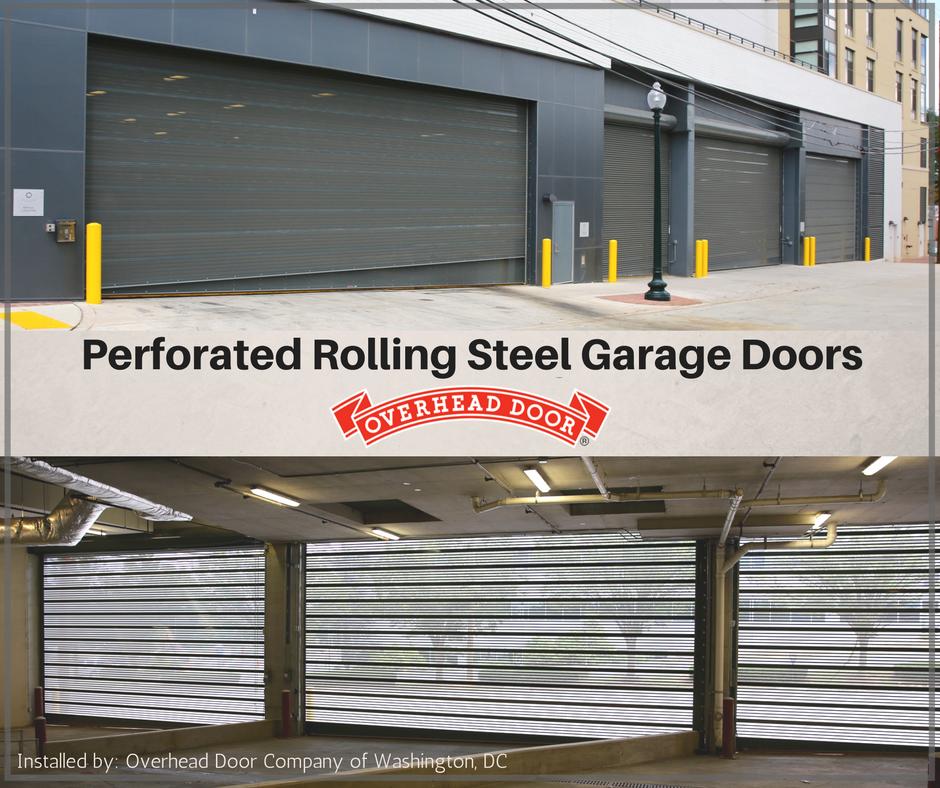 Perforated Rolling Steel Overhead Doors In Rockville, MD #overheaddoor