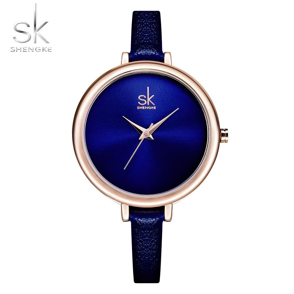 Shengke Elegant Slim Quartz Watch Top Brand Leather Women Watches Ladi –  ShopeeShipee 831f80c14d