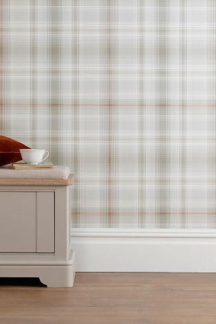 Buy Orange Check Wallpaper From The Next Uk Online Shop