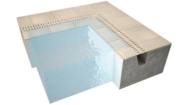 swimming pool overflow edge tiles | DETAILS | Pinterest | Swimming ...