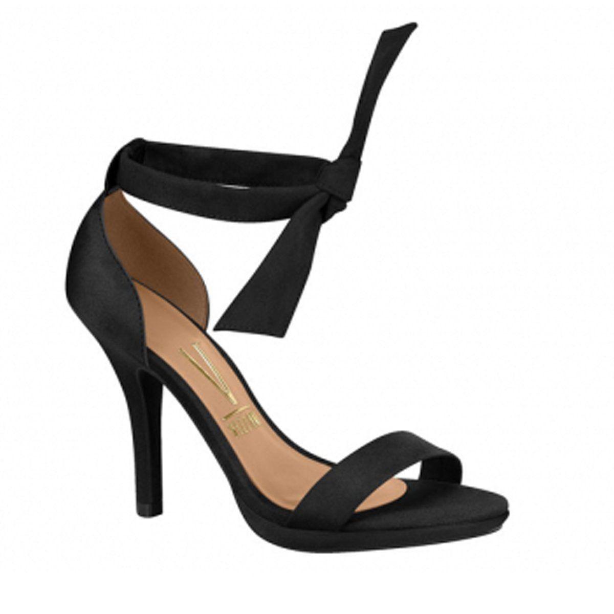 99a8c9490 Compre Online Sandália de salto fino com laço no tornozelo Vizzano 6210.458
