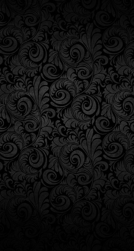 Iphone Wallpaper Black Paisley Pattern Classy Wallpaper Black