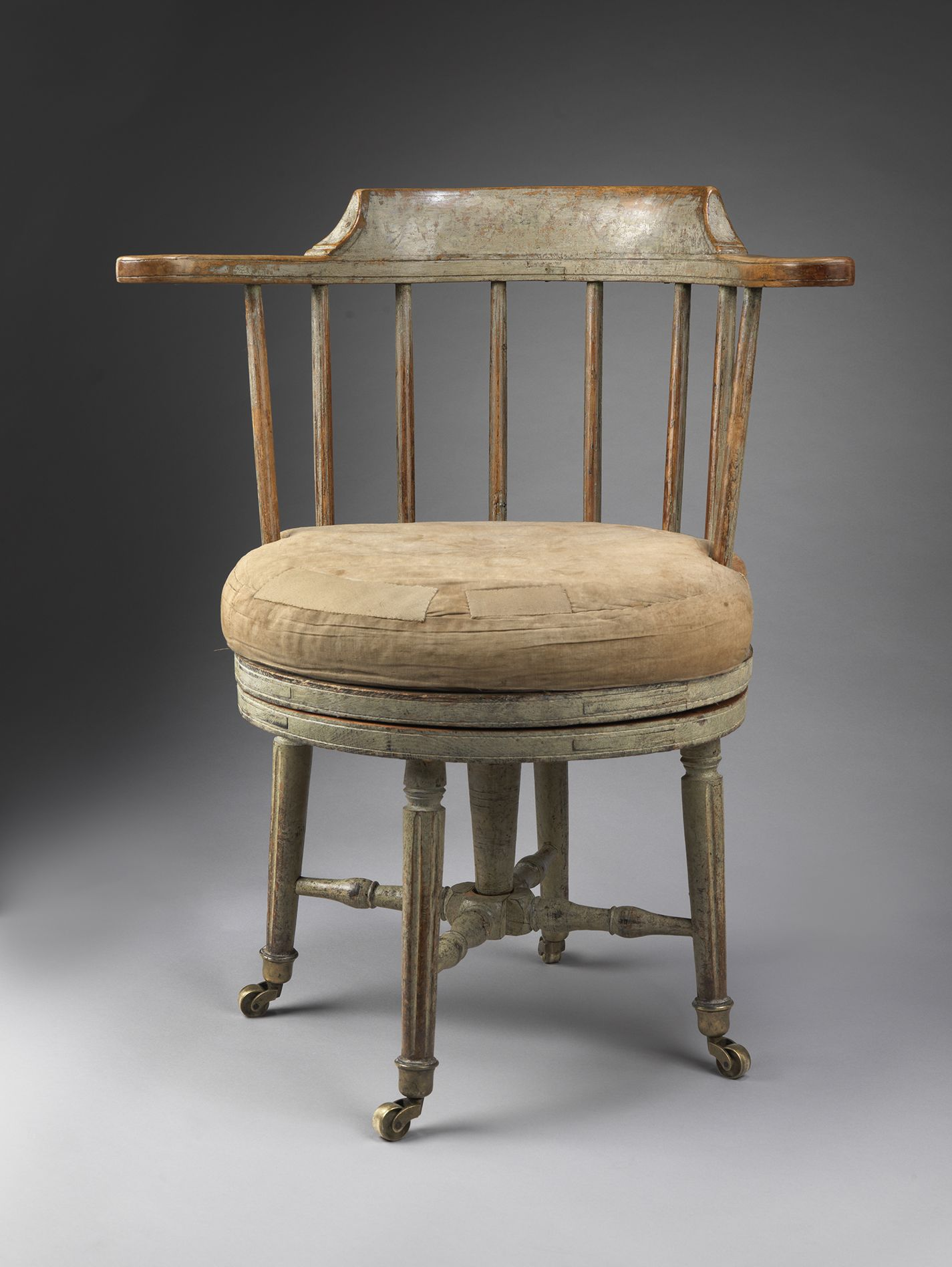 Remarkable antique office chair Swivel Chair Robert Young Antiques Collection Remarkable Gustavian Period Revolving Desk Chair Turned And Carved Alder Wood Retaining Much Original Paint Pinterest Robert Young Antiques Collection Remarkable Gustavian Period