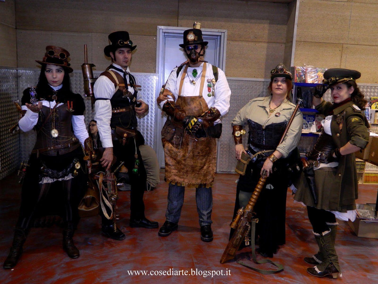 Steampunk group at Fumettopoli