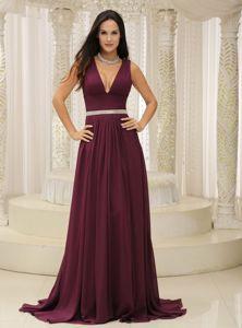 Maid Of Honor Dress Burgundy