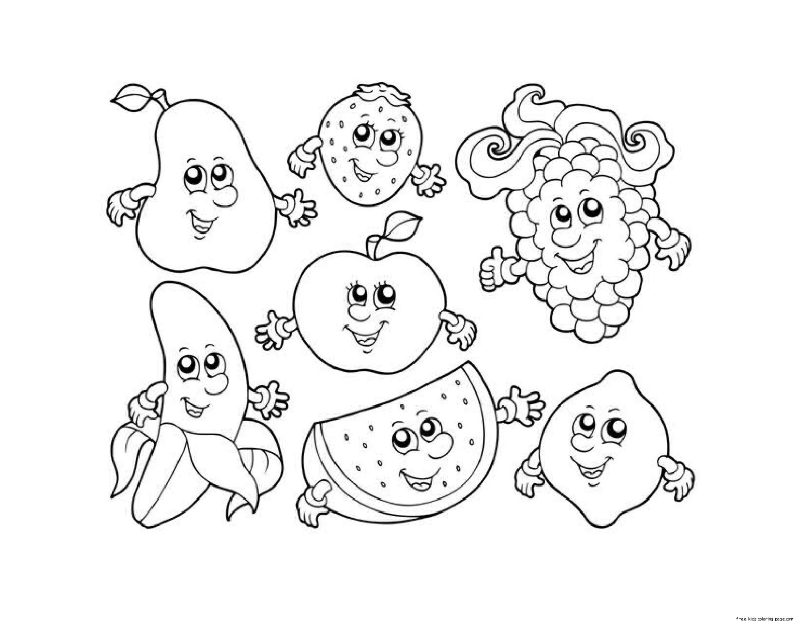 5700 Cartoon Vegetable Coloring Pages For Free