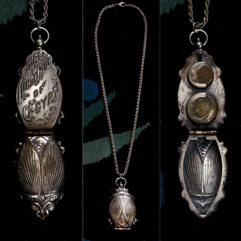 C1900 large scarab coin holder pendant silver plated vintage chain c1900 large scarab coin holder pendant silver plated vintage chain sold aloadofball Gallery