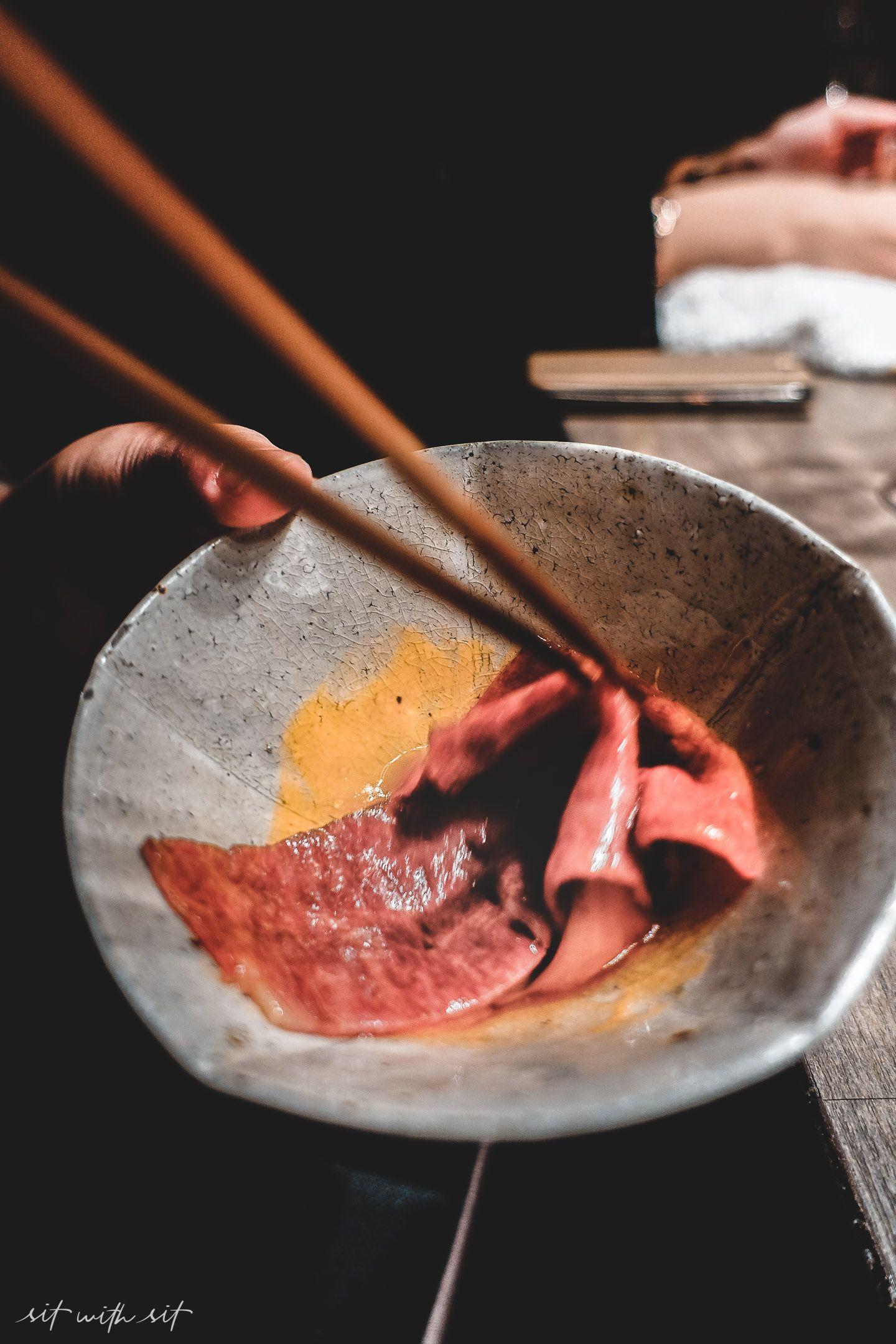 Ushigoros Sukiyaki Beef Sushi Marbled Beef Homemade Vanilla Ice Cream