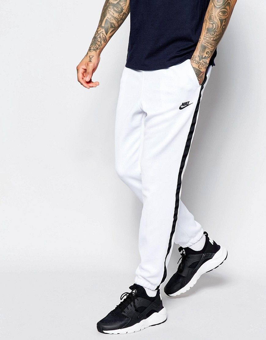 4fadc03d35625d Nike Tribute Skinny Joggers In White 678637-100. Find this Pin and more on mens  clothing ...