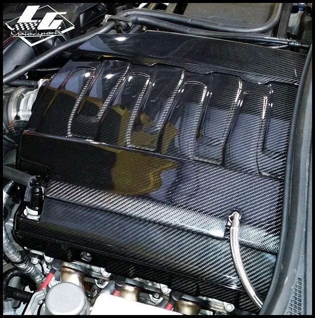 C7 Corvette Lg Motorsports Carbon Fiber Intake Cover Carbon Fiber Corvette Fiber Siding