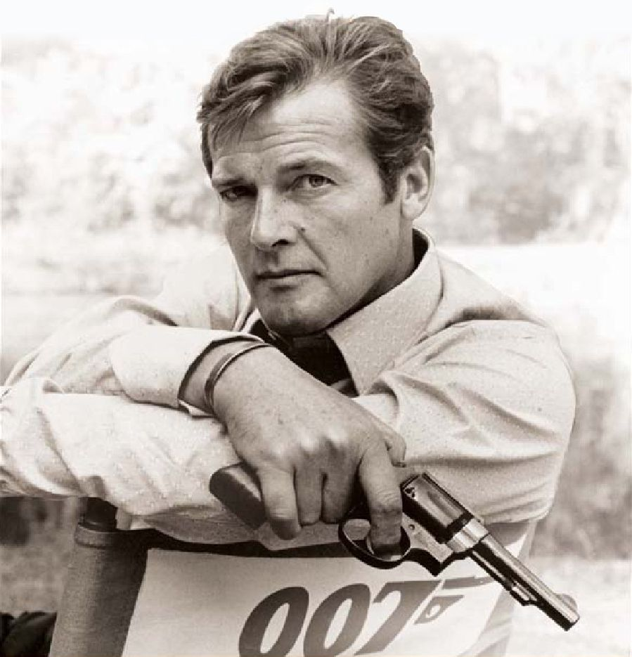 Roger Moore as James Bond   Roger moore, James bond and Movie