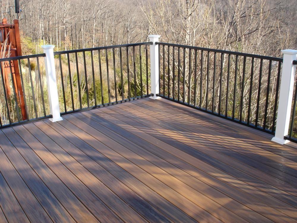 Best Decks St Louis Ipe Decking With Black Aluminum Railing 400 x 300