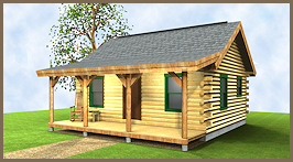 Delicieux The Trailblazer Log Cabin Plan