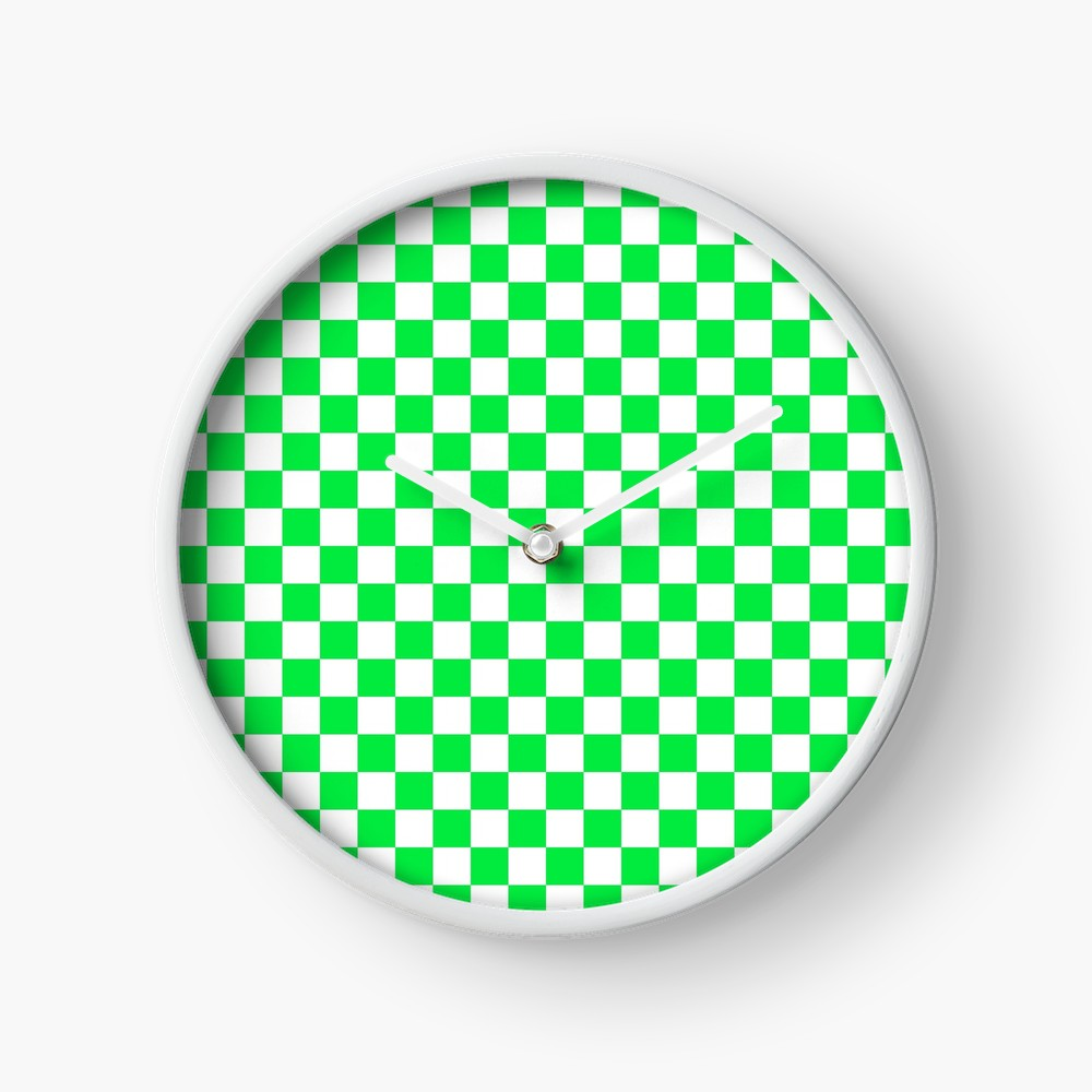 Check Pattern Checkered Pattern Neon Green And White Check Pattern Checkerboard Chessboard Iphone Case Cover B Checkered Pattern Checkerboard Pattern