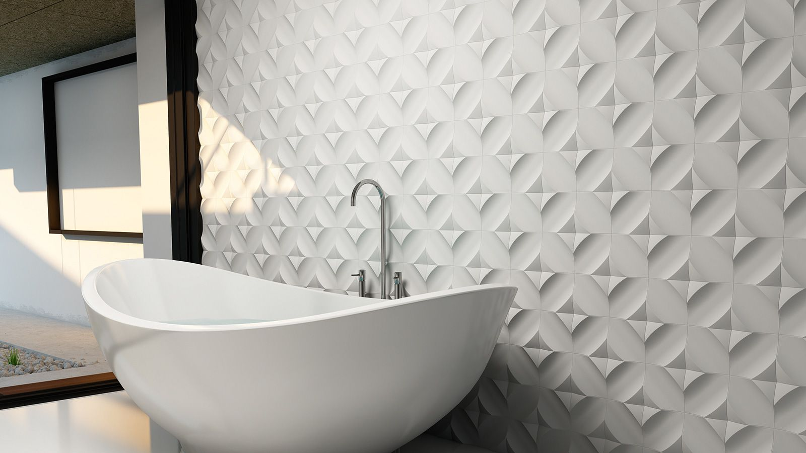 Wave 3d Ceramic Surfaces Tile Wow Unexpectedsurfaces Floor Tile Design Small Bathroom Tiles Tile Bathroom
