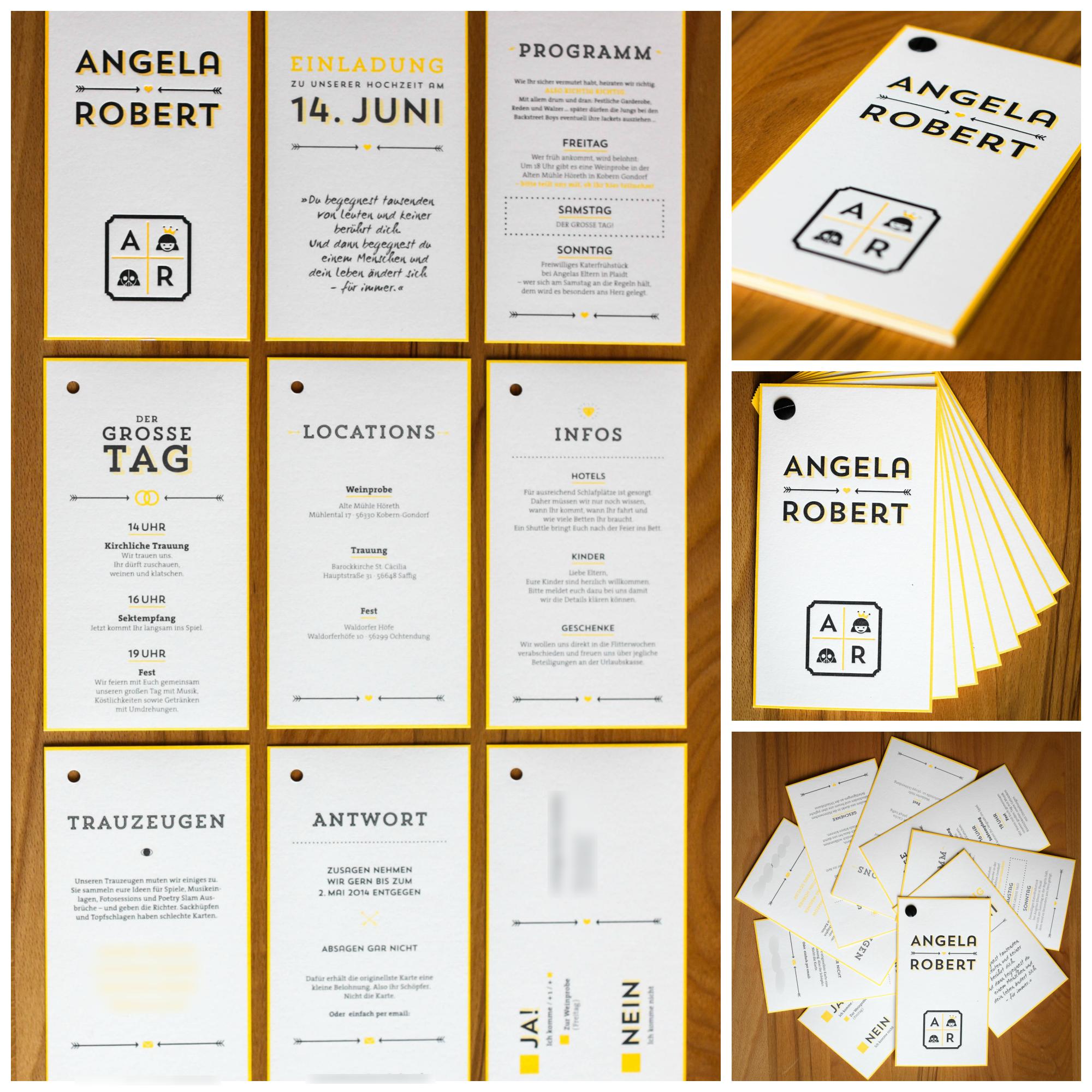 Unsere Hochzeitseinladungen hochzeit einladung letterpress