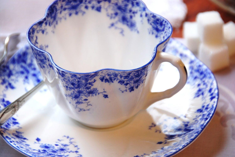 Beautiful Shelley Quot Dainty Blue Quot Fine Bone China Tea Cup