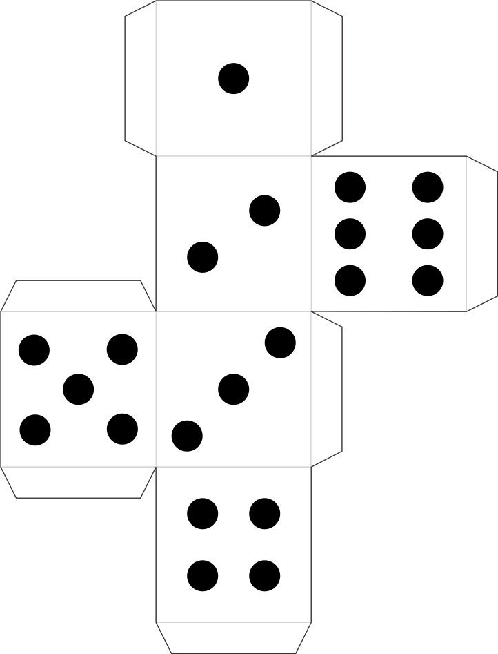 Printable Dice for Detective Badge and other games