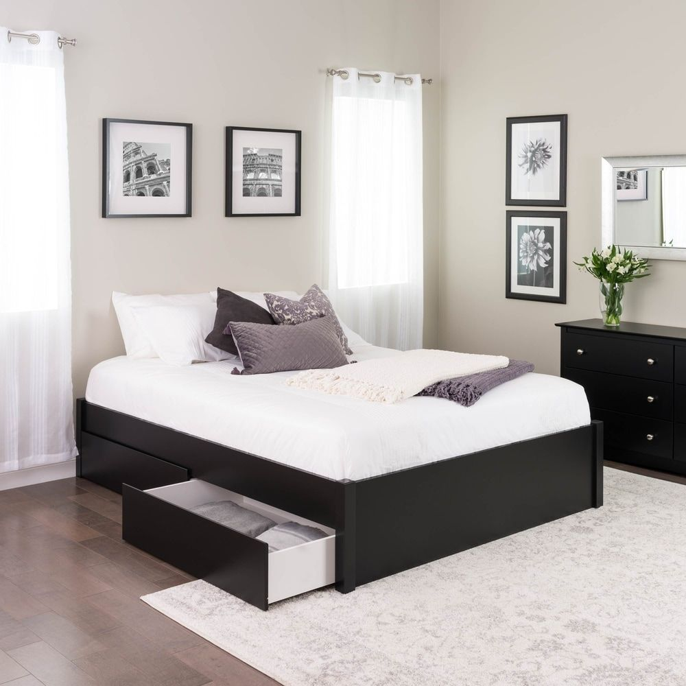 Prepac Queen Select 4 Post Platform Bed With Optional Drawers
