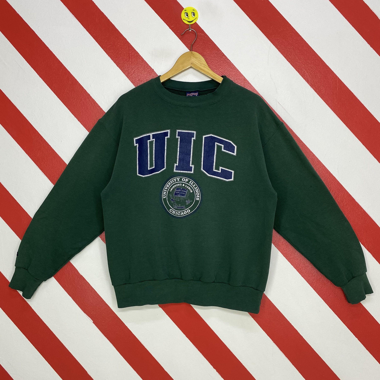 Vintage 90s University Illinois Sweatshirt Illinois Crewneck Illinois State Sweater Pullover Illinois University Print Logo Green Medium Sweatshirts Print Logo Champion Sweatshirt [ 3000 x 3000 Pixel ]