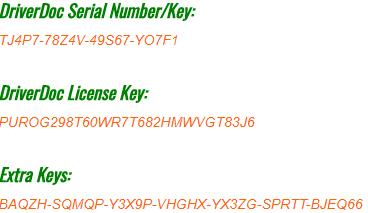 driverdoc license key 2019