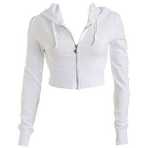 Zip Front Cropped Hoodie Teen Clothing By Wet Seal Crop Tops