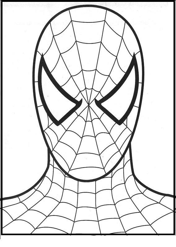 Foto Of Spiderman The Hero coloring picture for kids | Hombre araña ...