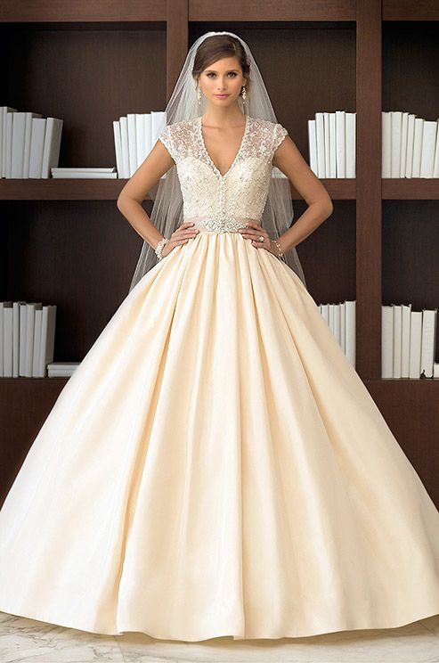 Regal Taffeta Ball Gown Wedding Dress With An Elegant Detachable Diamante Beaded Jacket Essense Of Australia Spring 2017