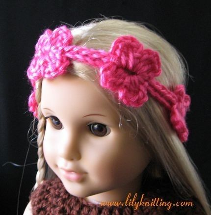 Pattern In Pdf Super Easy Crocheted Doll Headband Flower For