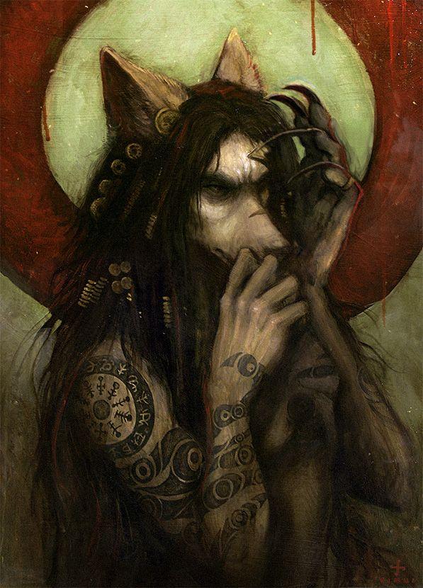 Pensive By Badinspiration Werejackal Werewolf Sorcerer Wizard
