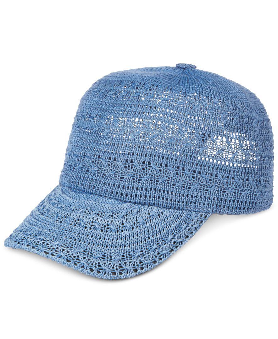 1e02436c5 Inc International Concepts Crochet Packable Baseball Cap, Only at ...