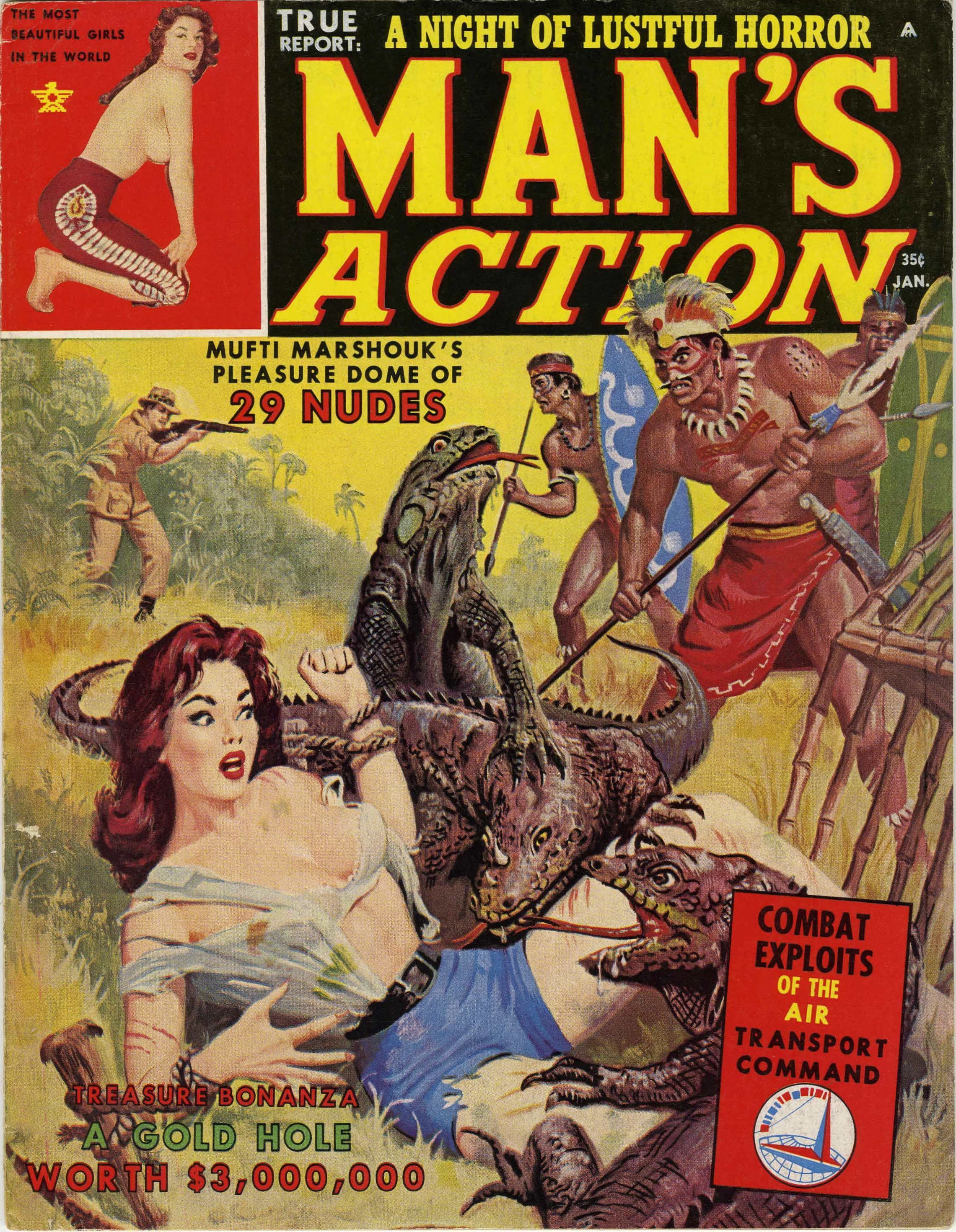 When Natives Attack White Damsels And Jungle Savages In Pulp