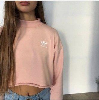 adidas pastel rose crop