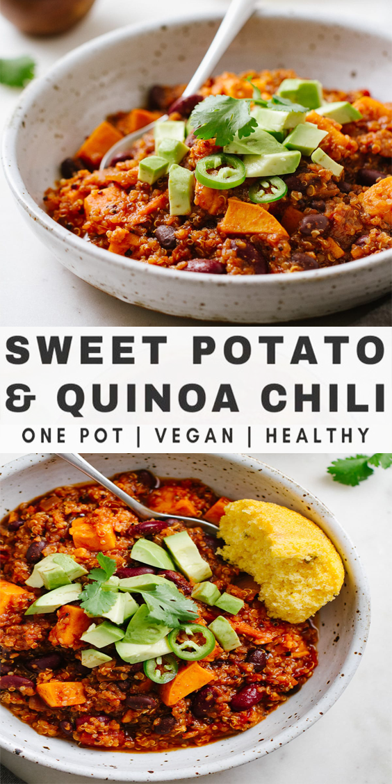 Photo of Sweet Potato and Quinoa Chili – Easy One Pot Recipe | Stovetop + Slow Cooker